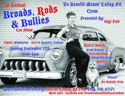 Broads, Rods and Bullies event flyer