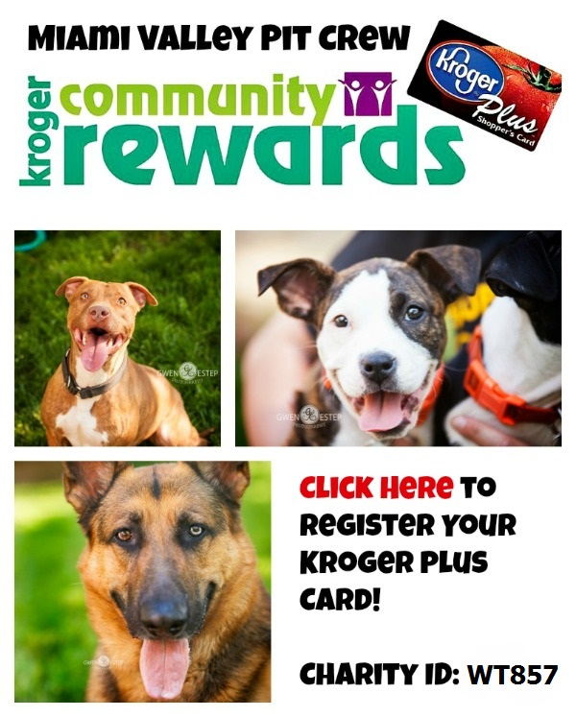Link to sign up for Kroger Community Rewards Pit Bull dog rescue