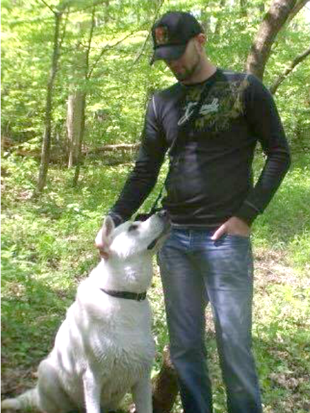 Caesar enjoying the outdoors